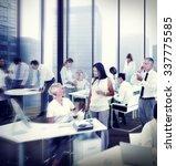 multiethnic group of people... | Shutterstock . vector #337775585