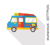 travel camp van flat icon | Shutterstock .eps vector #337779101