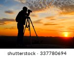 silhouette of a nature... | Shutterstock . vector #337780694