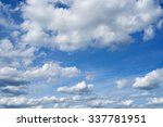 beautiful cloudscape over... | Shutterstock . vector #337781951