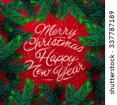 merry christmas and happy new... | Shutterstock .eps vector #337787189