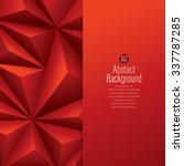 red abstract background vector. ... | Shutterstock .eps vector #337787285