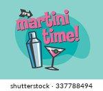 martini time retro vector... | Shutterstock .eps vector #337788494