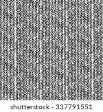 seamless hand drawn herringbone ... | Shutterstock .eps vector #337791551