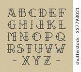 old school tattoo alphabet.... | Shutterstock .eps vector #337793021
