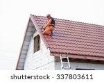 builder performs installation... | Shutterstock . vector #337803611