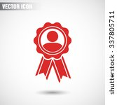 badge with ribbons man icon....   Shutterstock .eps vector #337805711