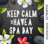 keep calm have a spa day ... | Shutterstock .eps vector #337808945