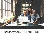 business team meeting...   Shutterstock . vector #337812431