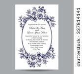romantic invitation. wedding ... | Shutterstock . vector #337814141