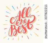 all the best. greeting card. | Shutterstock .eps vector #337822211