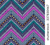 colored zigzag tribal seamless... | Shutterstock .eps vector #337830467