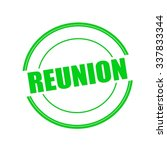 Reunion Green Stamp Text On...