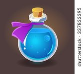 bottle of potion. vector...