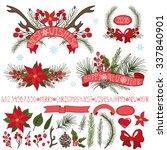 merry christmas season  new... | Shutterstock .eps vector #337840901