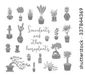 succulents and other... | Shutterstock .eps vector #337844369