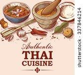 Hand Drawn Illustration Of Thai ...