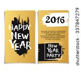 happy new year greeting card... | Shutterstock .eps vector #337847279