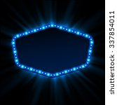 shining retro light banner. ... | Shutterstock . vector #337854011