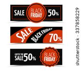 black friday horizontal banners | Shutterstock . vector #337858229