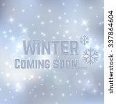 winter coming soon.  | Shutterstock .eps vector #337864604