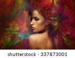 fantasy colorful beautiful... | Shutterstock . vector #337873001