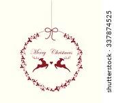 christmas ball cute logo | Shutterstock .eps vector #337874525