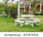 outdoor marble table and chair... | Shutterstock . vector #337874531