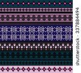 ethnic geometric print.... | Shutterstock .eps vector #337884494