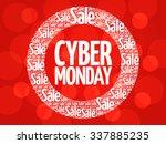 cyber monday vector words cloud ... | Shutterstock .eps vector #337885235