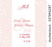 invitation wedding card with... | Shutterstock .eps vector #337896287