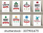 set of  christmas brochures in... | Shutterstock .eps vector #337901675