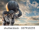the mythological atlas holding... | Shutterstock . vector #337910255