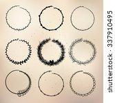 set of black and white... | Shutterstock .eps vector #337910495