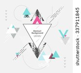 abstract modern geometric... | Shutterstock .eps vector #337911845