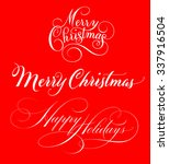text designs of merry christmas ... | Shutterstock .eps vector #337916504