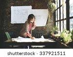 Businesswoman Working Planning...