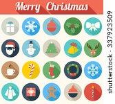 colorful flat design christmas... | Shutterstock .eps vector #337923509