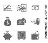 finance icons set   Shutterstock .eps vector #337924709