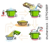 cooking infographics. step by... | Shutterstock . vector #337924889