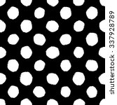 hand drawn seamless dot pattern.... | Shutterstock .eps vector #337928789