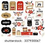christmas hand drawn design... | Shutterstock .eps vector #337930067