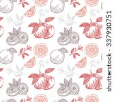 elegant seamless pattern with... | Shutterstock . vector #337930751