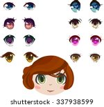 anime eyes set | Shutterstock .eps vector #337938599
