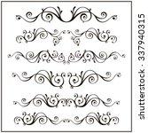 curled victorian calligraphic... | Shutterstock . vector #337940315