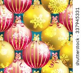 christmas ball pattern  new... | Shutterstock .eps vector #337945331