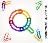 q letter from paper clip... | Shutterstock .eps vector #337945781