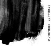 black abstract watercolor macro ... | Shutterstock . vector #337948619