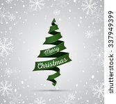 christmas tree background.... | Shutterstock .eps vector #337949399