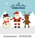 merry christmas colorful card... | Shutterstock .eps vector #337952255
